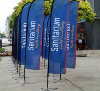 Outdoor Swooper Exhibition Flag with Pole