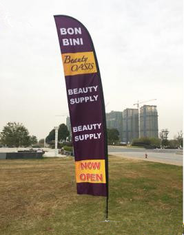 Outdoor Advertising Portable Feather Swooper Flag